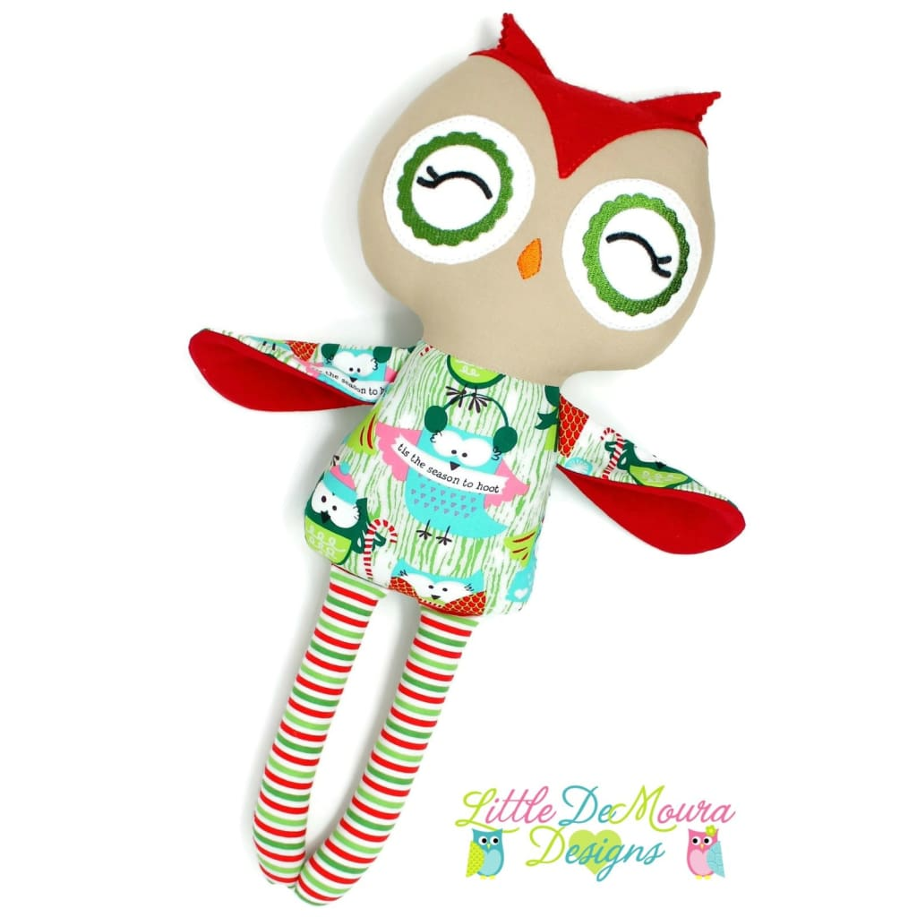 Owl Doll- Tis The Season To Hoot Little Demoura Designs Christmas Demoura Doll Holiday Hoot