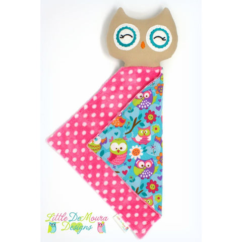 Owl Love Buddy - Nikoletta Little Demoura Designs Baby Blanket Hoot Infant Lovey