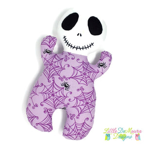 Skeleton Snuggle Baby- Purple Little Demoura Designs Baby Doll First Baby Doll Halloween Infant