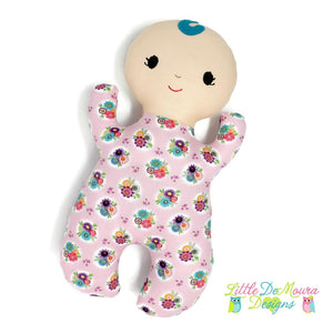 Snuggle Baby- Flora Little Demoura Designs Baby Doll First Baby Doll Floral Flowers