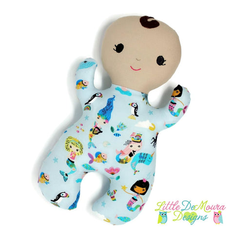 Snuggle Baby- Mermandi Little Demoura Designs Baby Doll First Baby Doll Infant Mermaid