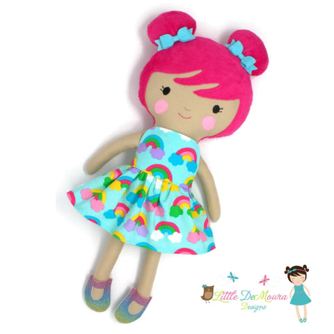 18 Doll 18 Doll Ballerina Best Seller Cloth Doll Dance Sunny Dress-Up Doll- Spring Rainbows Little Demoura Designs