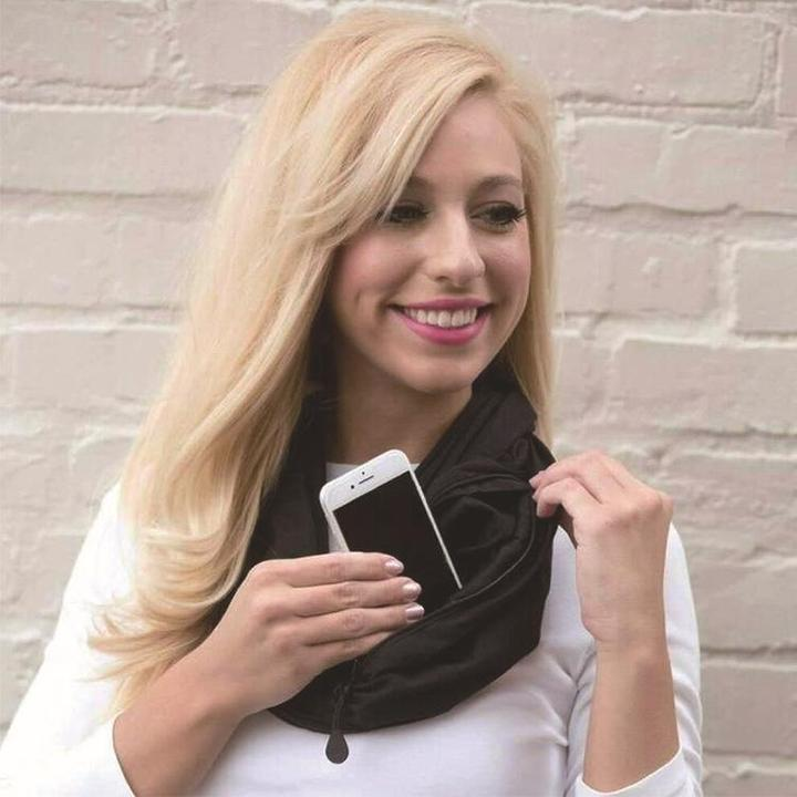 Multi-Use Pocket Scarf with Zippers