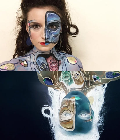 Angela Youngs Inverted makeup design on Ellis Phantom of the Opera inspired