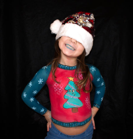 Bodypainted Christmas sweater by ladivasimon