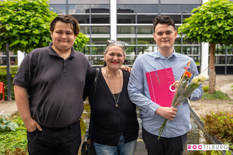 Cameleon founder Eugenie and her two sons Max and Pim