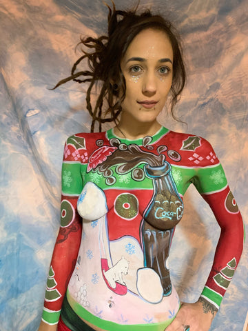 Christmas Sweater bodypaint by Paul Smith
