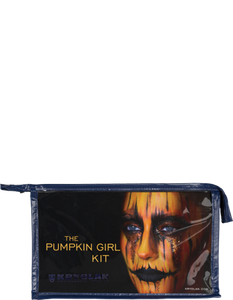 The Pumpkin Girl Kit contains every make up product needed to create this traditional Halloween look. It also comes with a visual step-by-step guide explaining the techniques and products in detail.