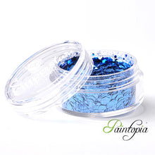 Glamour Blue Superstar Chunky Glitter is a blue chunky glitter mix presented in a 8ml clear plastic screw lid pot