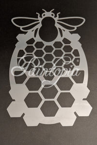 Bee and honeycomb Cut by Cat stencil
