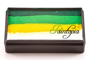 Cameleon 28g Colorblock in Fresh Grass which contains colours dark green, light green, yellow and white