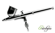 Dual action 0.3mm airbrush gun in silver