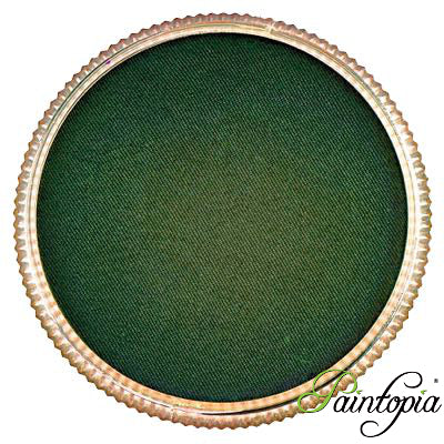 Round pot of Clover Green face paint by Cameleon. A rich and vibrant green facepaint.