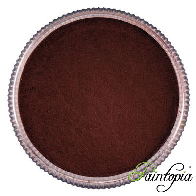 Round pot of Coffee Brown face paint by Cameleon. A rich and vibrant brown facepaint.