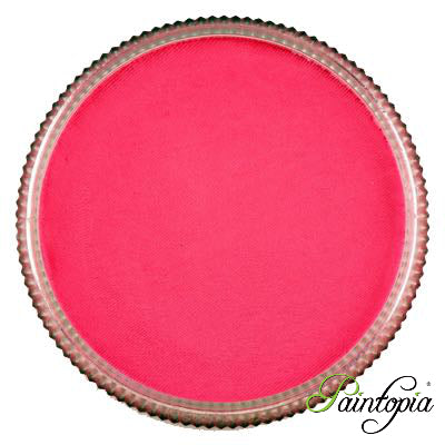 Round pot of Cotton Candy face paint by Cameleon. A rich and vibrant pink facepaint.