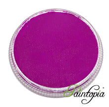 Cameleon Electric Purple UV facepaint in a round plastic container. 32g in size