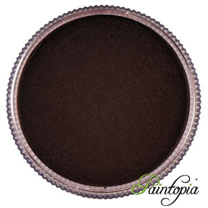 Round pot of Espresso Brown face paint by Cameleon. A rich and vibrant brown facepaint.