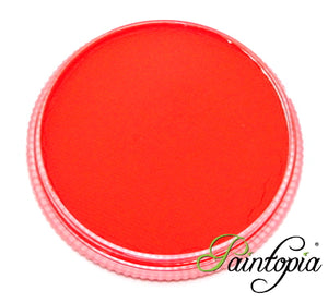 Cameleon Foxy Orange UV facepaint in a round plastic container. 32g in size