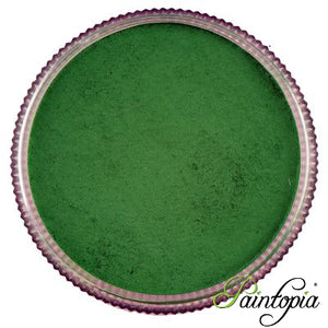 Round pot of Frog Green face paint by Cameleon. A rich and vibrant green facepaint.