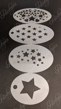 Full set of Star stencils Cut by Cat