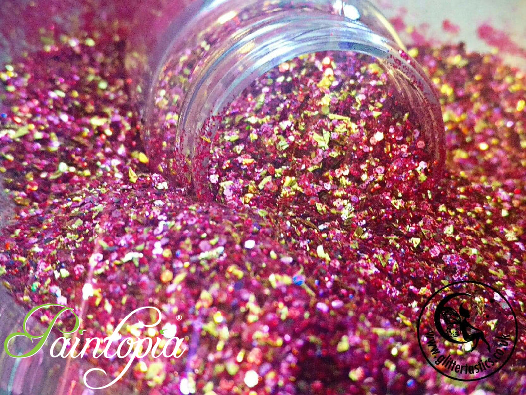 Vampires Love Potion Glittertastics Glitter, pink and gold cosmetic grade suitable for face paint, body paint and make u