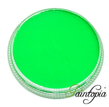 Cameleon Green Kryptonite UV facepaint in a round plastic container. 32g in size