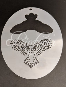 Large barn owl Cut by Cat stencil design