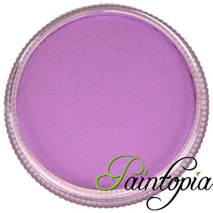 Round 32g pot of Leeloo Purple Facepaint by Cameleon. A rich and vibrant purple facepaint.