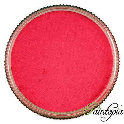 Round pot of Marshmallow face paint by Cameleon. A rich and vibrant pink facepaint.