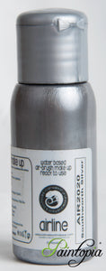 50ml bottle of Silver airbrush paint produced by Cameleon