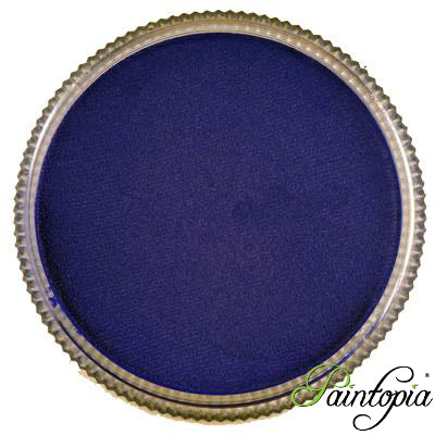 Round pot of Sea Blue face paint by Cameleon. A rich and vibrant blue facepaint.