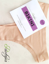 Nude coloured bikini briefs, UK clothing size 10 - 12, soft and stretch elastane material
