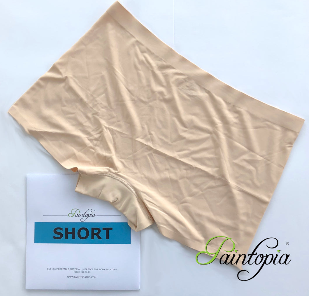 Paintopia nude coloured bodypainting shorts, elastane material with seamless edges