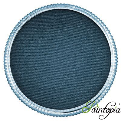 Round pot of Paynes Grey Facepaint by Cameleon. A rich and vibrant blue/grey facepaint.