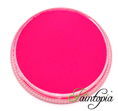 Cameleon Pink Flamingo UV facepaint in a round plastic container. 32g in size