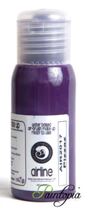 50ml bottle of purple airbrush facepaint and bodypaint produced by Cameleon