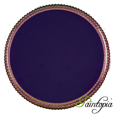 Round pot of Purdy Purple Facepaint by Cameleon. A rich and vibrant purple facepaint.