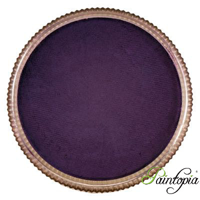 Round pot of Purple Poison face paint by Cameleon. A rich and vibrant purple facepaint.