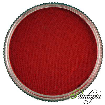 Round pot of Red Berry Facepaint by Cameleon. A rich and vibrant red facepaint.