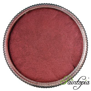 A round pot containing a shimmery rose metallic water based face paint produced by Cameleon called Rose Sugar