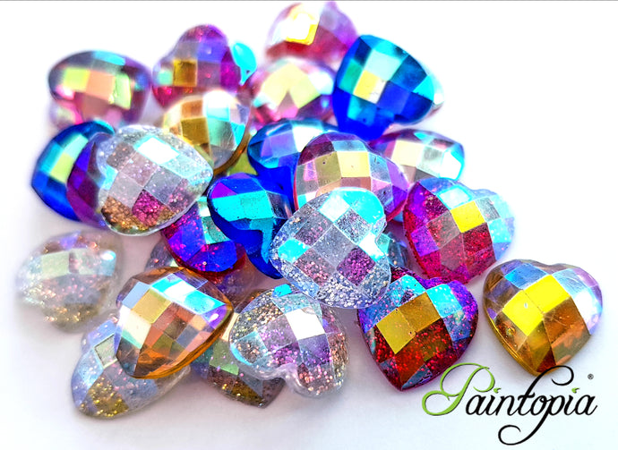 A beautiful bag of 20 sparkly, flat back gems perfect for adding beautiful detail to your face painting and bodypaint designs.