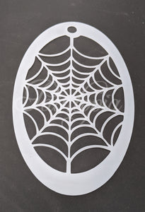 Spiderweb Cut by Cat stencil design