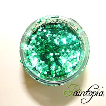 Glitterlution - Bioglitter®- 25ml Super Chunky Festival Green