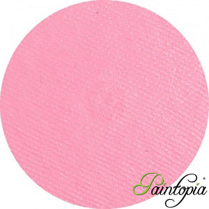 Superstar Baby Pink Shimmer Face Paint. Circular design in a clear plastic container. 45g in size