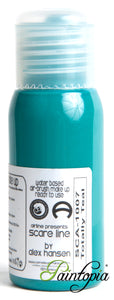 Cameleon airbrush paint in shade Totally Teal. Produced in a 50ml plastic bottle.