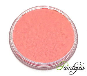 Round pot of Under Your Skin Facepaint by Cameleon. A rich and vibrant pink facepaint.