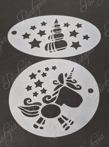 Unicorn pair of Cut by Cat stencil designs