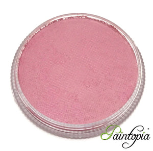 Round pot of Witchcraft Facepaint by Cameleon. A rich and vibrant pink facepaint.
