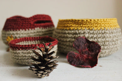 Rope Twine Baskets and Bowls