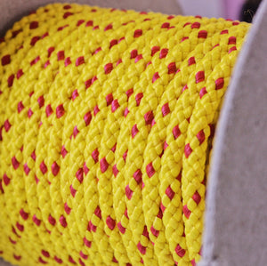 6mm floating/safety rope (100m) yellow with red fleck
